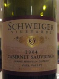 2004 Schweiger Vineyards Cab