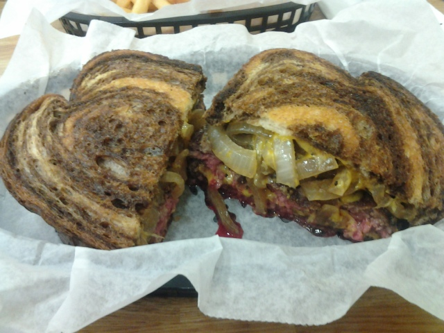 The perfectly-proportioned patty melt.
