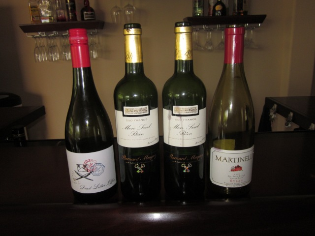 The lineup of delicious Syrah: Australian, French, American