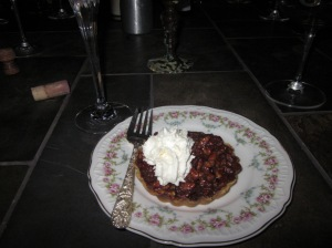 Pecan Caramel Tart with Bourbon Whipped Cream