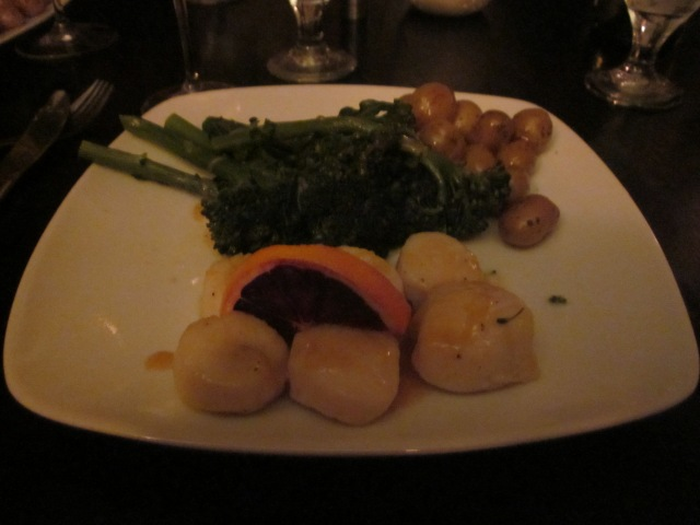 Scallops, Broccolini, & Medallion Potatoes