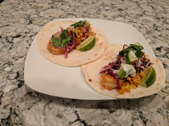 Shrimp Tacos Pineapple Habanero Slaw